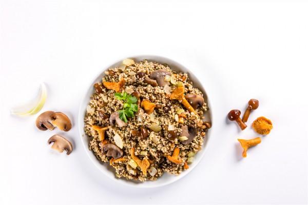 Mushroom grain blend